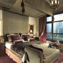 Фотография: Спальня в стиле Восточный, Декор интерьера, Мебель и свет, Светильник, Лампа, Мозаика, Восток, Подсвечник – фото на InMyRoom.ru