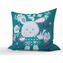 Подушка для детской: Зайка в цветах