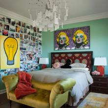 Фотография: Спальня в стиле Эклектика, Стиль жизни, Советы, Поп-арт – фото на InMyRoom.ru