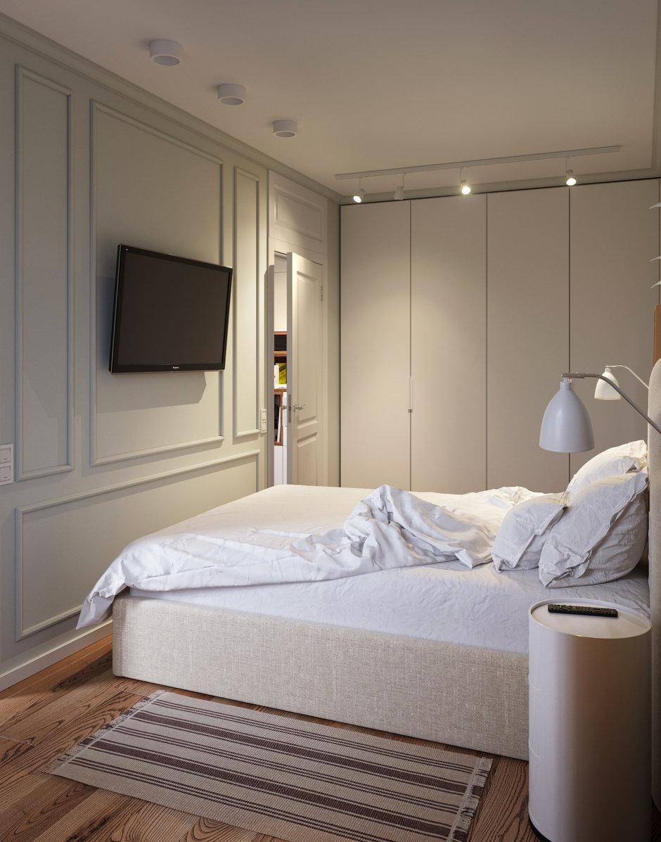 Фотография: Спальня в стиле Современный, Малогабаритная квартира, Квартира, Проект недели, Москва, Кирпичный дом, 2 комнаты, 40-60 метров, I-511 – фото на InMyRoom.ru