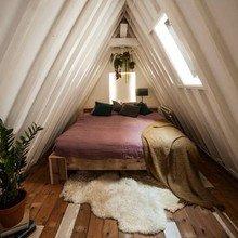Фото из портфолио Мансардные спальни с изюминкой – фотографии дизайна интерьеров на InMyRoom.ru
