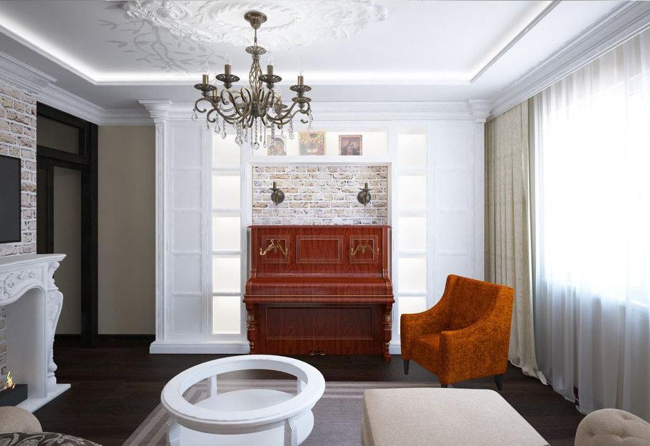 Фотография: Гостиная в стиле Прованс и Кантри, Эклектика, Классический, Квартира, Проект недели – фото на InMyRoom.ru