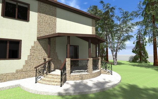 Фото из портфолио Дизайн фасада загородного дома – фотографии дизайна интерьеров на INMYROOM