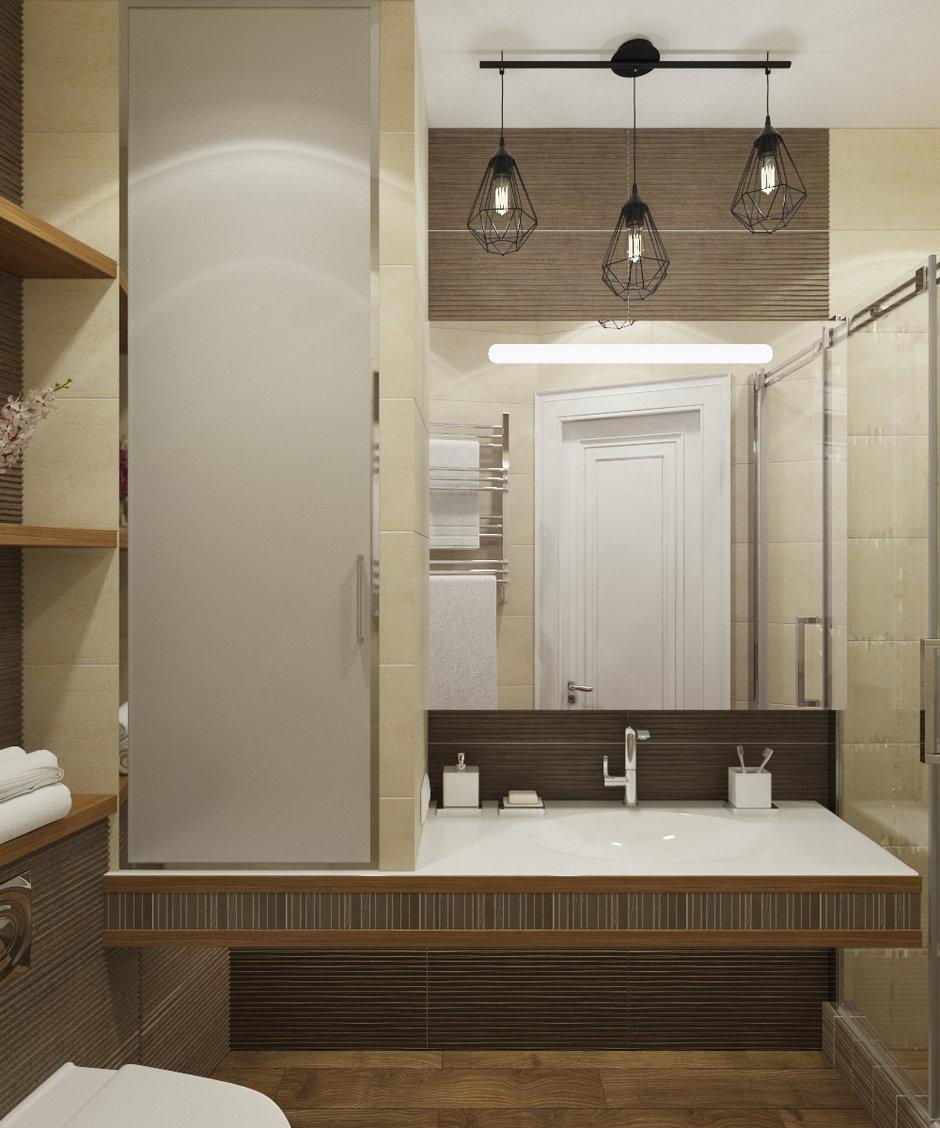 Фотография: Ванная в стиле Современный, Квартира, Проект недели, Сочи, Евгения Матвеенко, FlatsDesign, Монолитный дом, 3 комнаты, Более 90 метров – фото на InMyRoom.ru