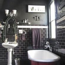 Фотография: Ванная в стиле Кантри, Декор интерьера, Аксессуары, Декор, Белый, Черный, Желтый, Серый, Бирюзовый – фото на InMyRoom.ru