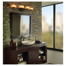 Фотография: Ванная в стиле Современный, Интерьер комнат, Светильник, Зеркало, Подсветка – фото на InMyRoom.ru