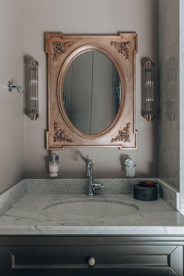 Фотография: Ванная в стиле Классический, Современный, Квартира, Проект недели, Санкт-Петербург, 3 комнаты, 60-90 метров, Наталья Комова – фото на INMYROOM