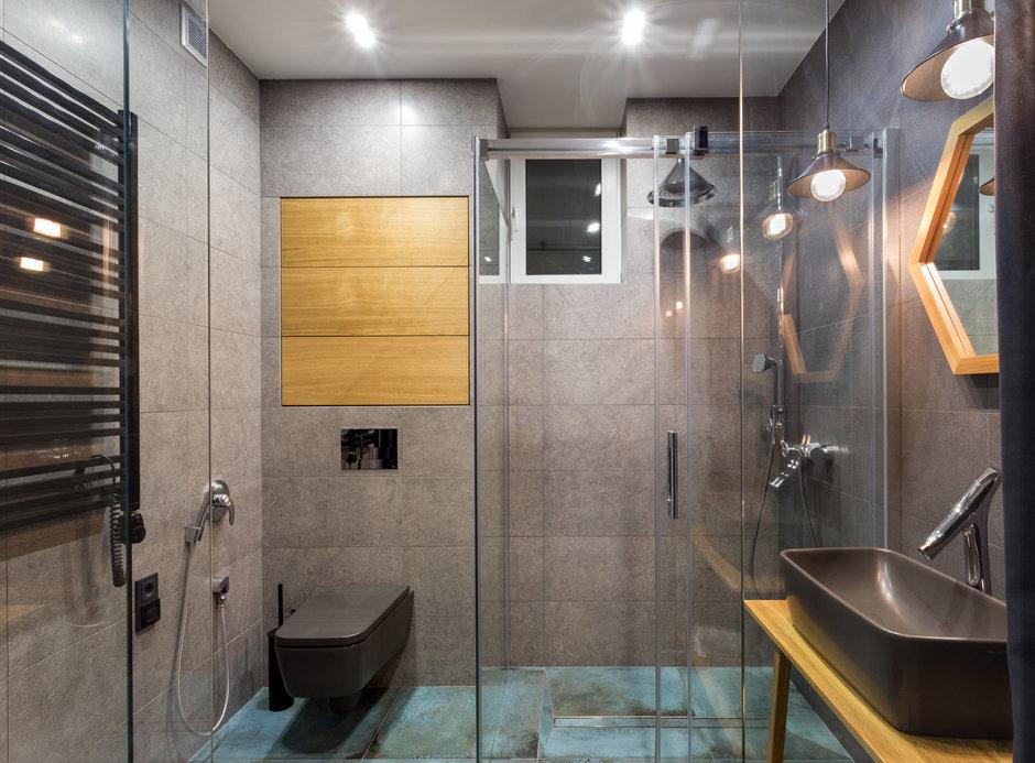 Фотография: Ванная в стиле Лофт, Квартира, Проект недели, Киев, новостройка, Монолитный дом, 2 комнаты, 60-90 метров – фото на InMyRoom.ru