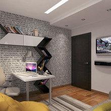 Фотография: Офис в стиле Эклектика, Квартира, Дома и квартиры, Перепланировка – фото на InMyRoom.ru