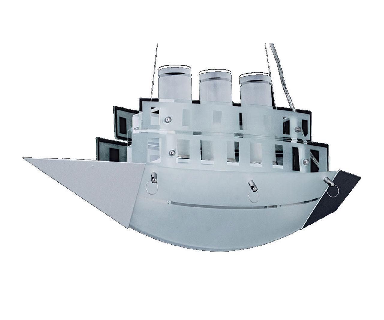 Подвесной светильник корабль белого цвета
