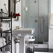 Фотография: Ванная в стиле Кантри, Малогабаритная квартира, Интерьер комнат – фото на InMyRoom.ru