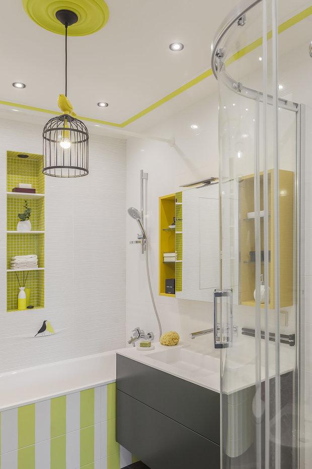 Фотография: Ванная в стиле Современный, Квартира, Проект недели, Москва, 2 комнаты, 60-90 метров, Виктория Скоробогатько – фото на INMYROOM