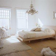 Фотография: Спальня в стиле Кантри, Скандинавский, Современный, Цвет в интерьере – фото на InMyRoom.ru