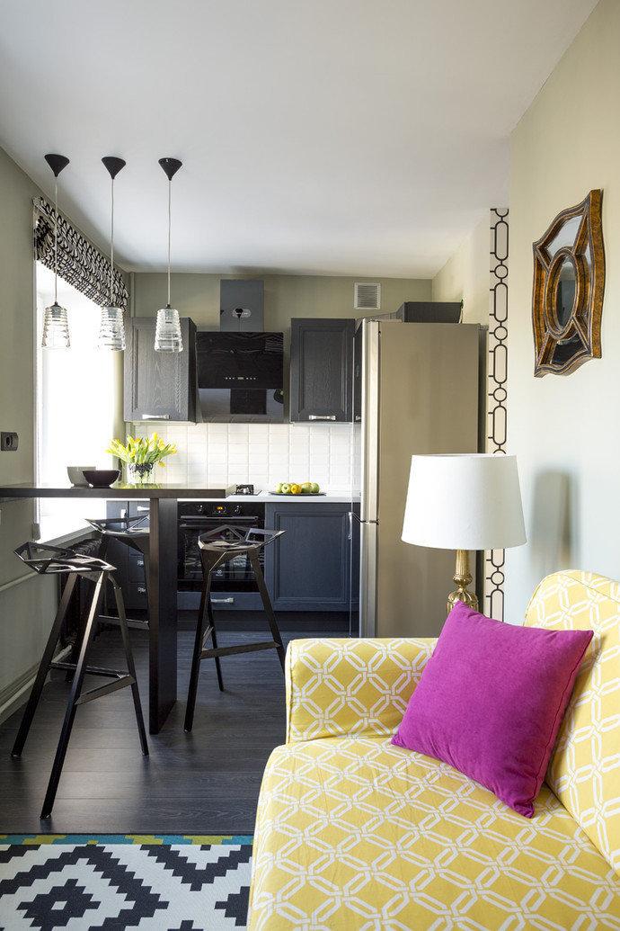 Фотография: Кухня и столовая в стиле Эклектика, Квартира, Дома и квартиры, IKEA, Проект недели, Перепланировка, Москва, Zara Home – фото на InMyRoom.ru