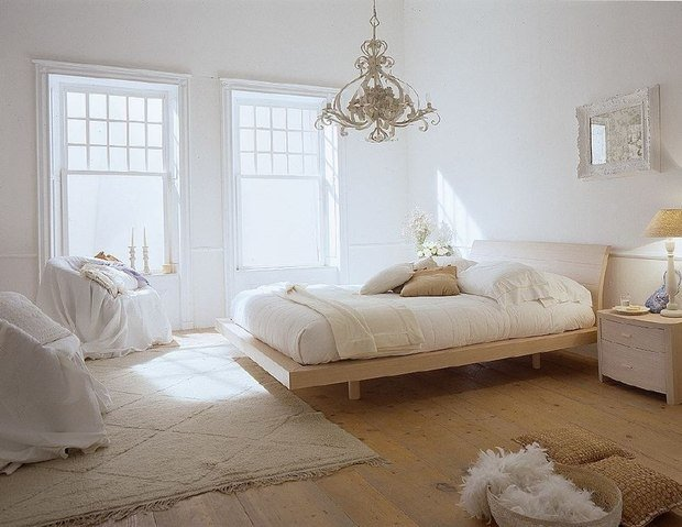 Фотография: Спальня в стиле Прованс и Кантри, Скандинавский, Современный, Цвет в интерьере – фото на InMyRoom.ru