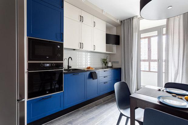 Фотография: Кухня и столовая в стиле Современный, Квартира, Проект недели, 1 комната, 40-60 метров, Анна Иноземцева – фото на INMYROOM