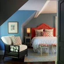 Фотография: Спальня в стиле Кантри, Классический, Современный, Чердак, Мансарда – фото на InMyRoom.ru
