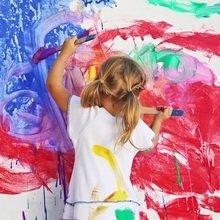 Фотография: Декор в стиле Современный, Детская, Интерьер комнат, Обои, Ремонт, Стены, Краска – фото на InMyRoom.ru
