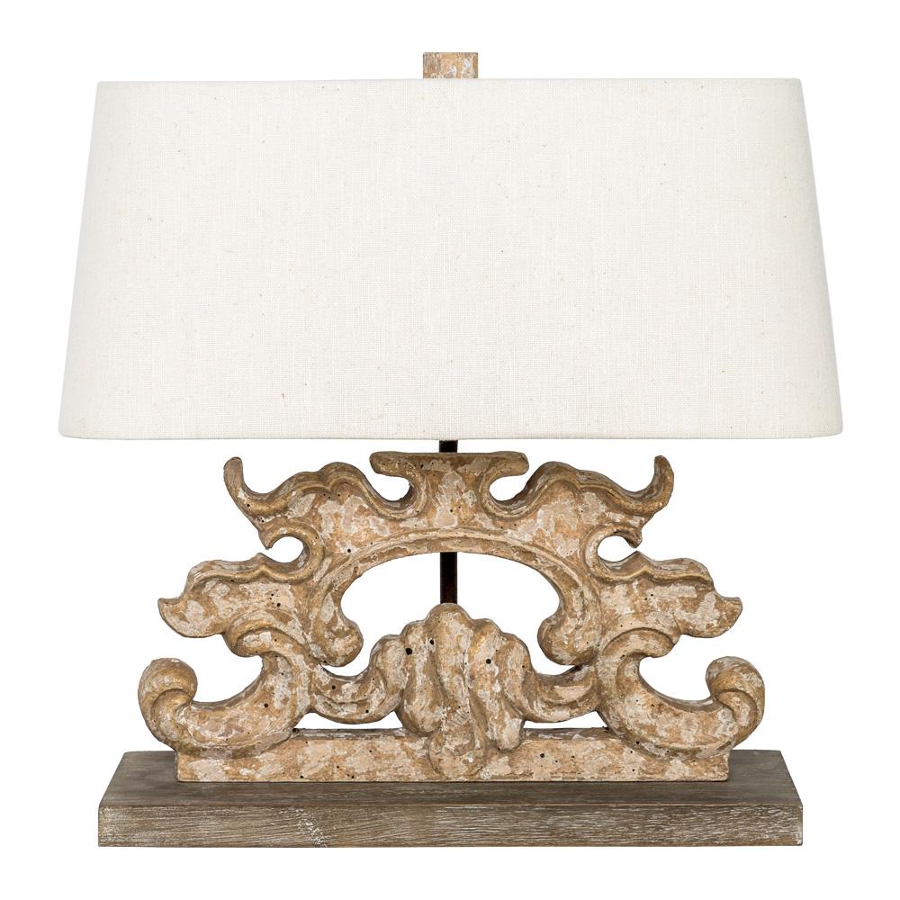 Купить Настольная лампа ланже с белым абажуром, inmyroom, Россия