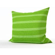 Декоративная подушка: Зеленые полосы