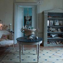 Фотография: Гостиная в стиле Кантри, Дом, Дома и квартиры, Камин, Свечи – фото на InMyRoom.ru
