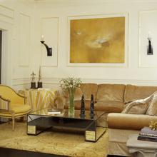 Фотография: Гостиная в стиле Эклектика, Декор интерьера, DIY, Дом, Декор дома, Цвет в интерьере, Обои – фото на InMyRoom.ru