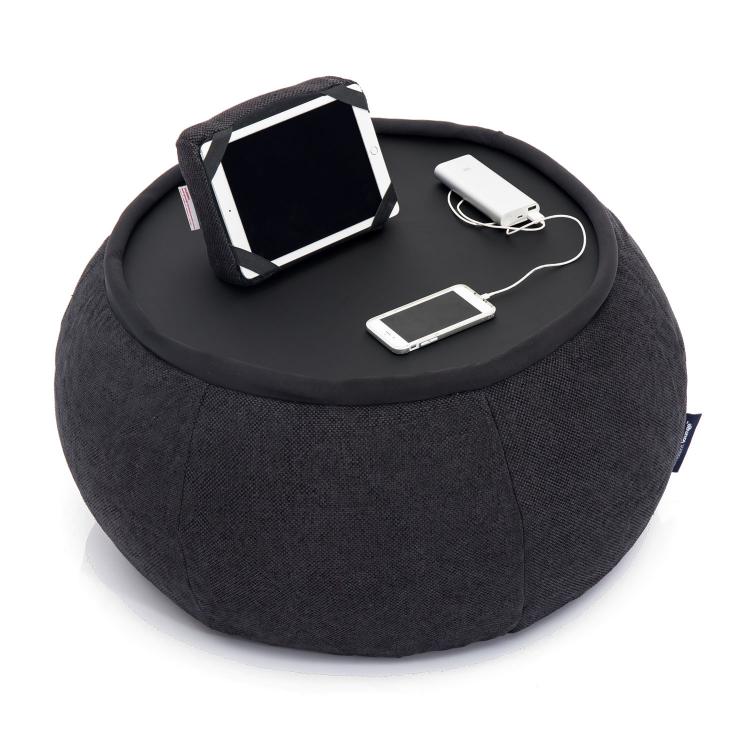 Бескаркасный стол-бин бэг Ambient Lounge Versa Table - Black Sapphire (черный цвет)
