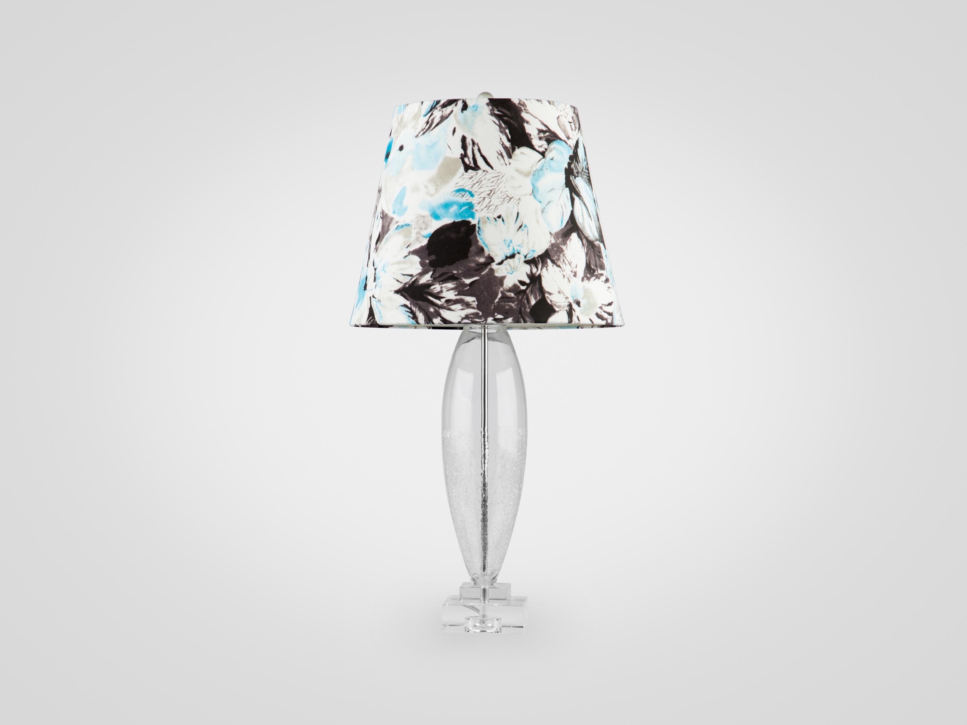 Купить Лампа из стекла на прозрачной стеклянной ножке с эффектом битого стекла, inmyroom, Китай