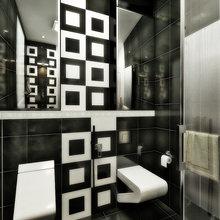 Фото из портфолио Черно-белый интерьер для ванной комнаты от Design Ideas Crimea – фотографии дизайна интерьеров на INMYROOM