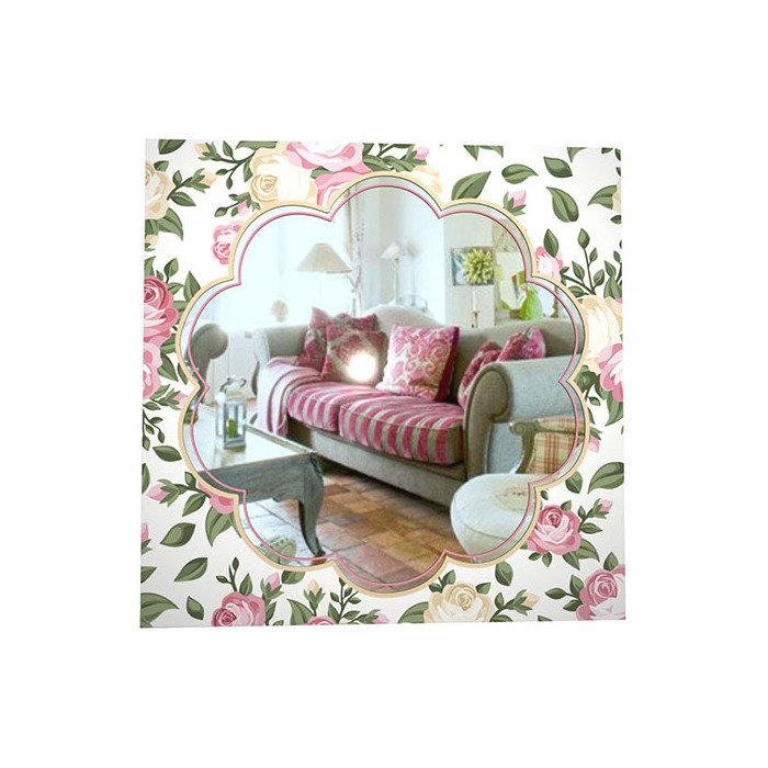 """Зеркало с рисунком """"Розовые розы"""""""