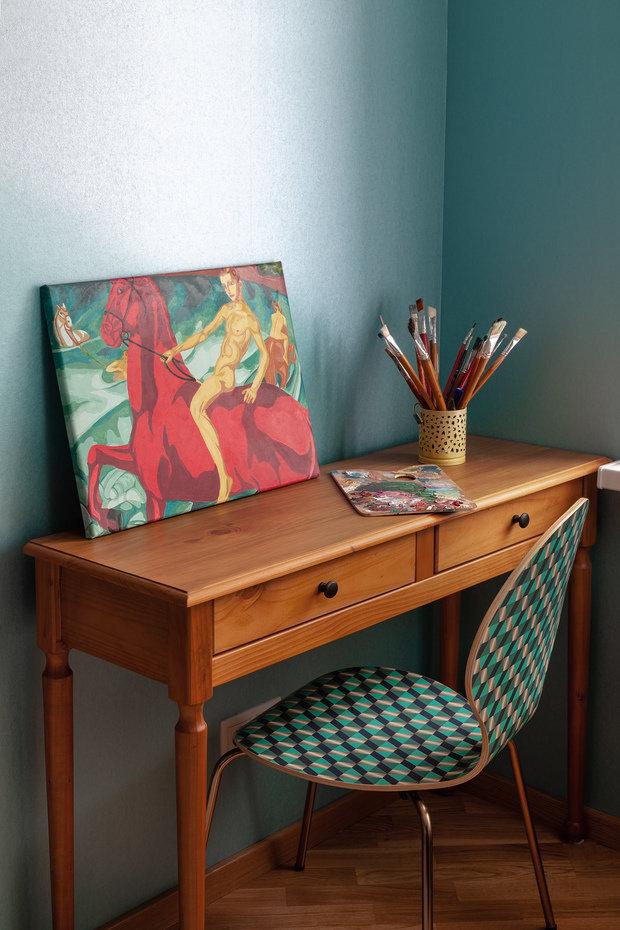 Фотография: Кабинет в стиле Современный, Эклектика, Квартира, Проект недели, Химки, 2 комнаты, 60-90 метров, Лилия Салах – фото на INMYROOM