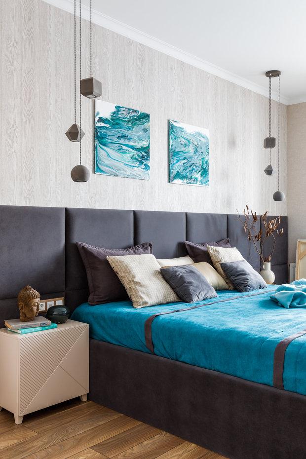 Фотография: Спальня в стиле Современный, Квартира, Проект недели, Краснодар, 3 комнаты, Более 90 метров, Archigram, Евгения Княжева – фото на INMYROOM