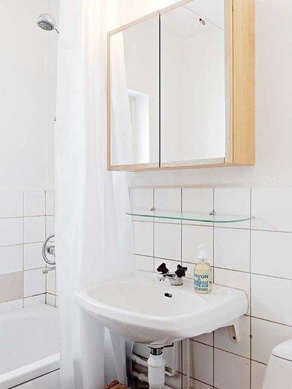 Фотография: Ванная в стиле Эко, Малогабаритная квартира, Квартира, Швеция, Дома и квартиры – фото на InMyRoom.ru