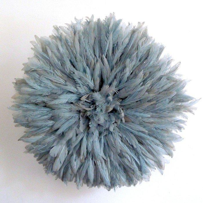 Камерунская шляпа  средняя (50 см) серо-голубая