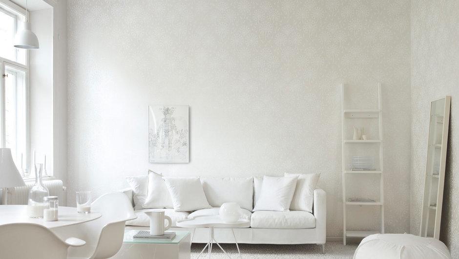 Фотография: Гостиная в стиле Классический, Современный, Декор интерьера, Дизайн интерьера, Цвет в интерьере, Обои, Стены, Эко – фото на InMyRoom.ru