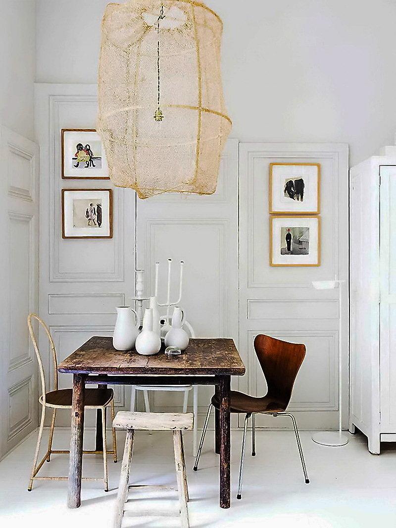 Фотография: Кухня и столовая в стиле , Скандинавский, Декор интерьера, Малогабаритная квартира, Квартира, Цвет в интерьере, Дома и квартиры, Белый – фото на InMyRoom.ru
