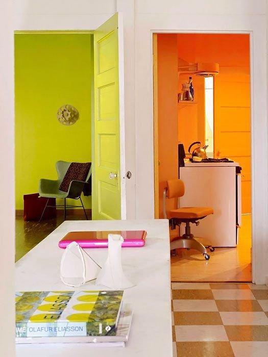 Фотография: Мебель и свет в стиле Скандинавский, Современный, Декор интерьера, Дизайн интерьера, Цвет в интерьере, Желтый – фото на InMyRoom.ru