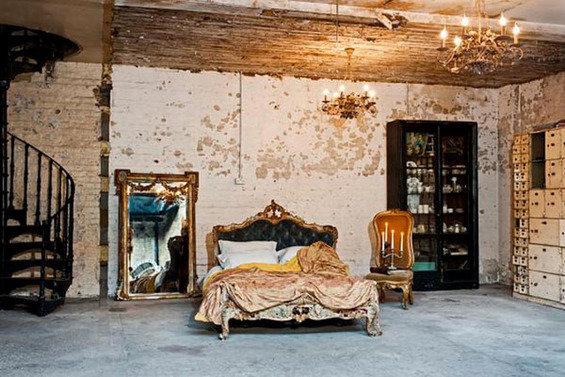 Фотография: Спальня в стиле Прованс и Кантри, Стены, Шебби-шик, Барокко – фото на InMyRoom.ru