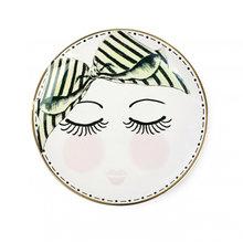 Тарелка из керамики с рисунком