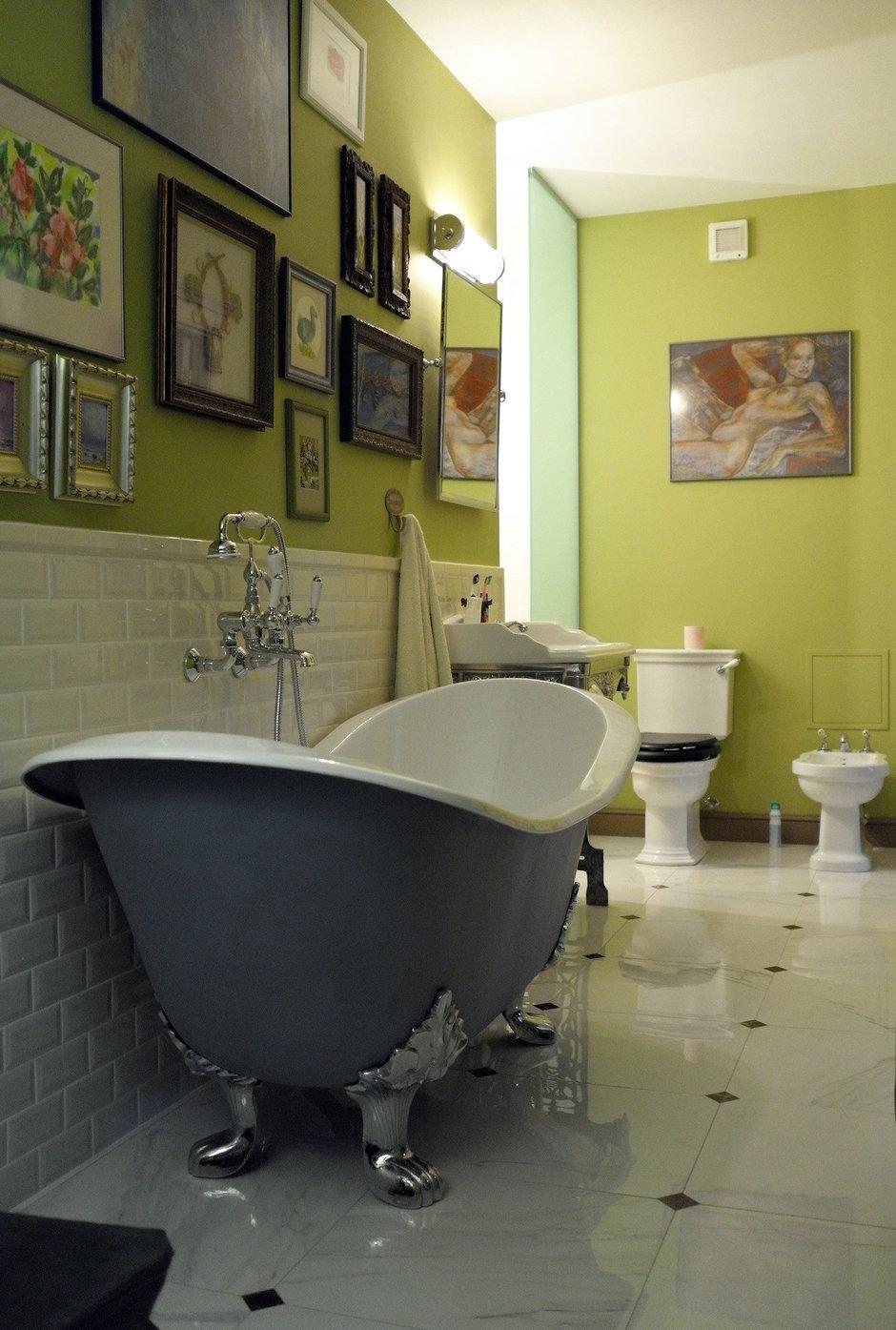 Фотография: Ванная в стиле , Квартира, Eichholtz, Spiridon, Дома и квартиры, Проект недели – фото на InMyRoom.ru