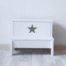 Табурет-лестница белый