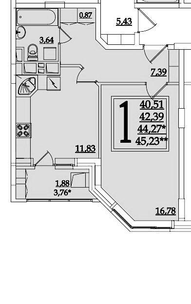 Из однушки в двушку (спальня и детская на 16,78 м2)