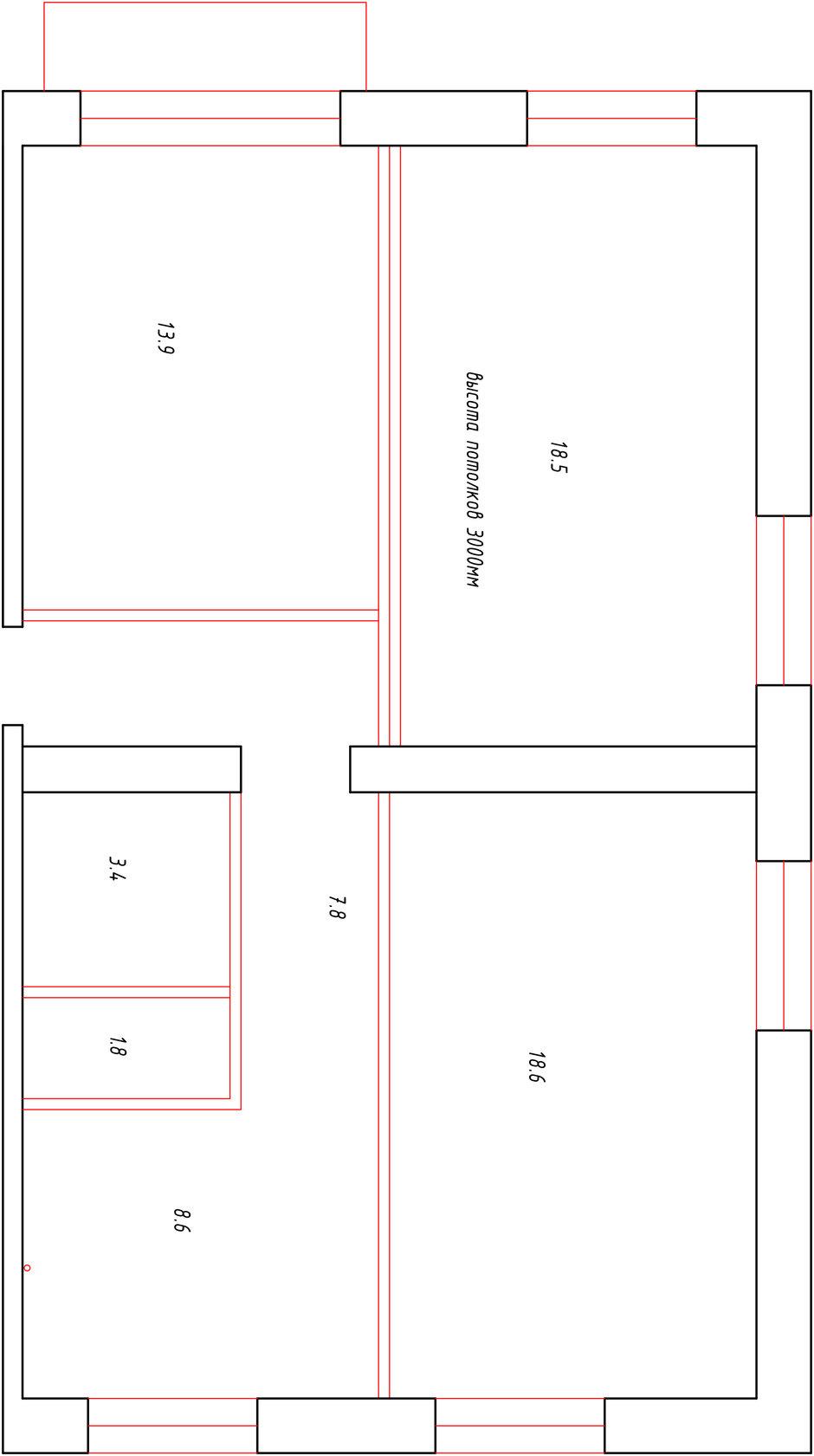 Фотография: Планировки в стиле , Квартира, Проект недели, Москва, Кирпичный дом, 3 комнаты, 60-90 метров, Елена Никитина – фото на InMyRoom.ru