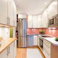 Фотография: Кухня и столовая в стиле Современный, Интерьер комнат, Системы хранения, Бытовая техника – фото на InMyRoom.ru