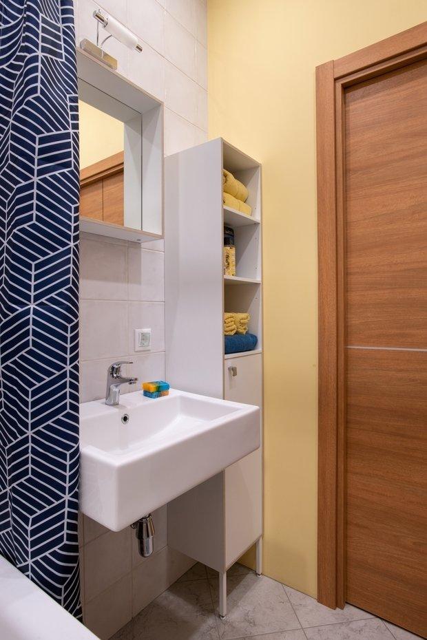 Фотография: Ванная в стиле Современный, Малогабаритная квартира, Квартира, Проект недели, Москва, 1 комната, 40-60 метров, Светлана Краснова – фото на INMYROOM