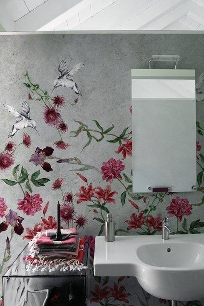 Фотография: Ванная в стиле Прованс и Кантри, Декор интерьера, Декор дома, Обои, Стены, Картины, Принт, Панно, Roommy.ru – фото на InMyRoom.ru