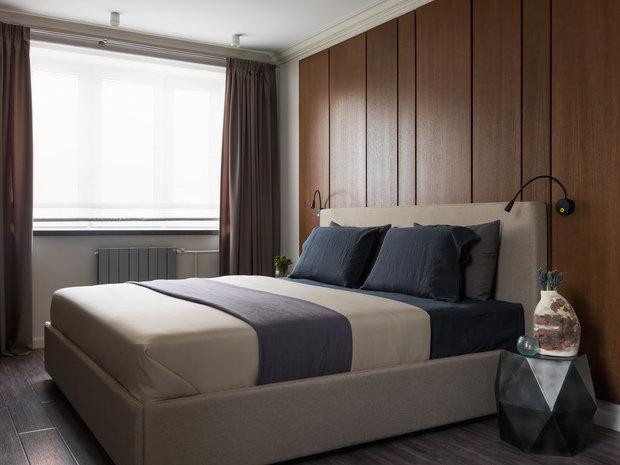 Фотография: Спальня в стиле Современный, Квартира, Проект недели, Москва, 2 комнаты, 40-60 метров, 60-90 метров, Анна Чеверева – фото на INMYROOM