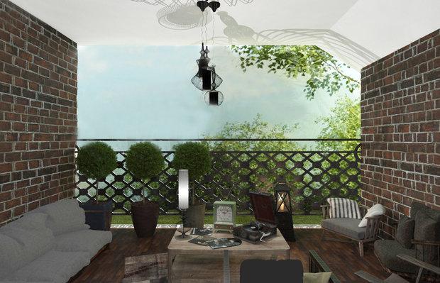 Фото из портфолио Дизайн спальни с террасой и прихожей в частном доме – фотографии дизайна интерьеров на INMYROOM