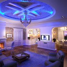 Фотография: Гостиная в стиле Кантри, Классический, Лофт, Современный, Декор интерьера, Мебель и свет – фото на InMyRoom.ru