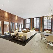 Фотография: Гостиная в стиле Лофт, Квартира, Терраса, Дома и квартиры, Нью-Йорк, Пентхаус, Промдизайн – фото на InMyRoom.ru